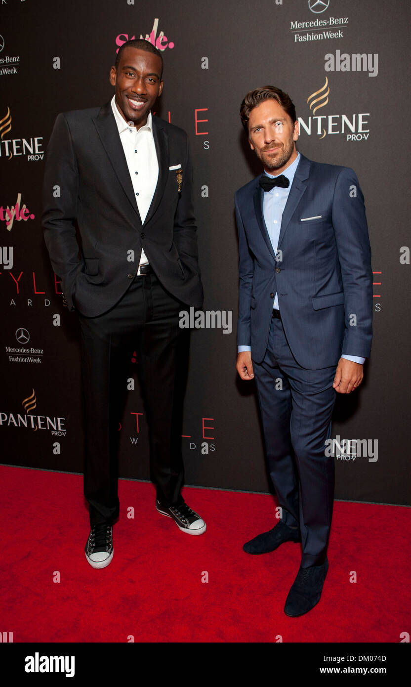 Amare Stoudemire And Henrik Lundqvist 2012 Style Awards Held During