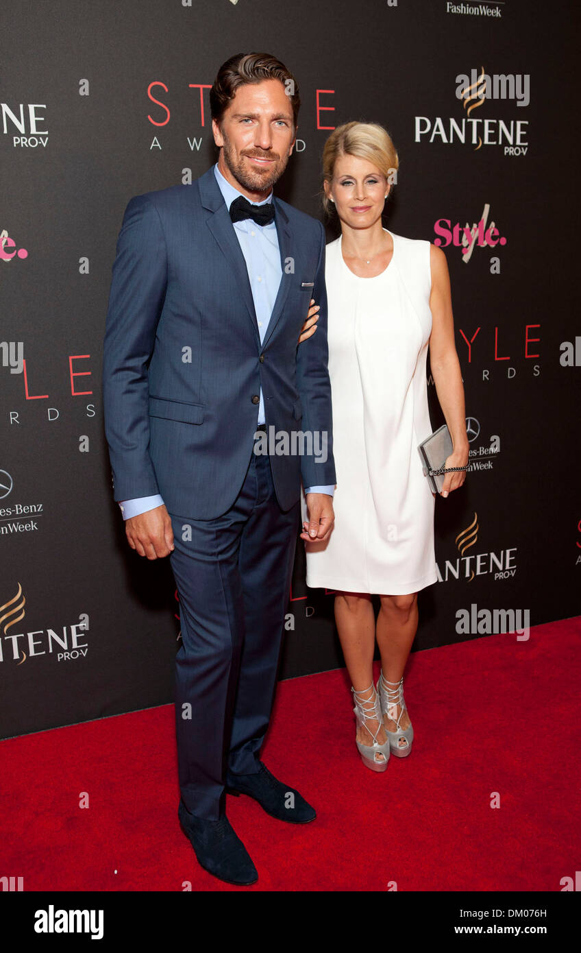 Henrik Lundqvist And Therese Lundqvist 2012 Style Awards Held During