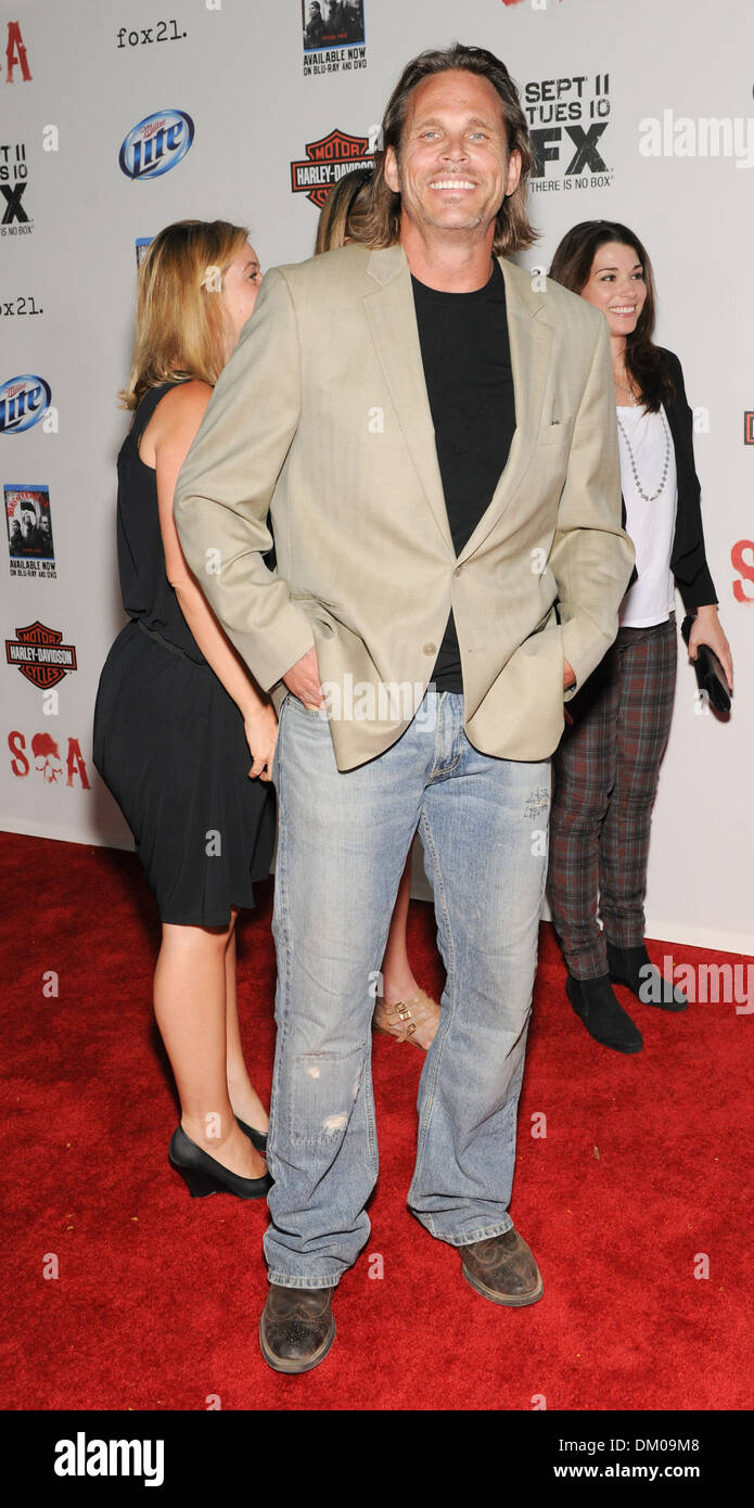 Chris Browning Premiere Screening Of Fx S Sons Of Anarchy Season 5 Held At Westwood Village Theater Los Angeles Califorina Stock Photo Alamy