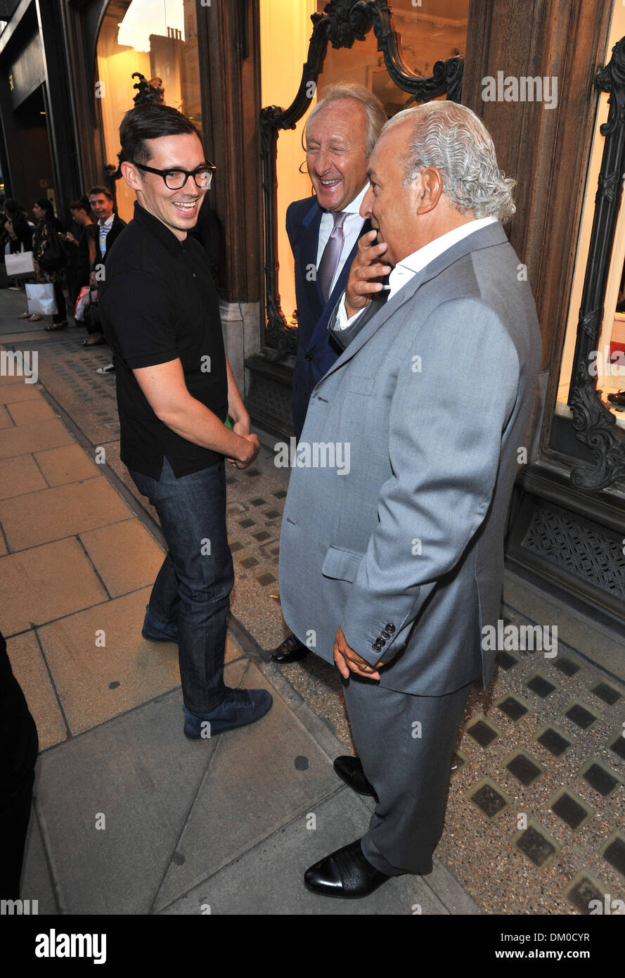 Erdem Moralioglu Harold Tillman Sir Philip Green Fashion's Night Out held on Bond Street London England - 06.09.12 - Stock Image