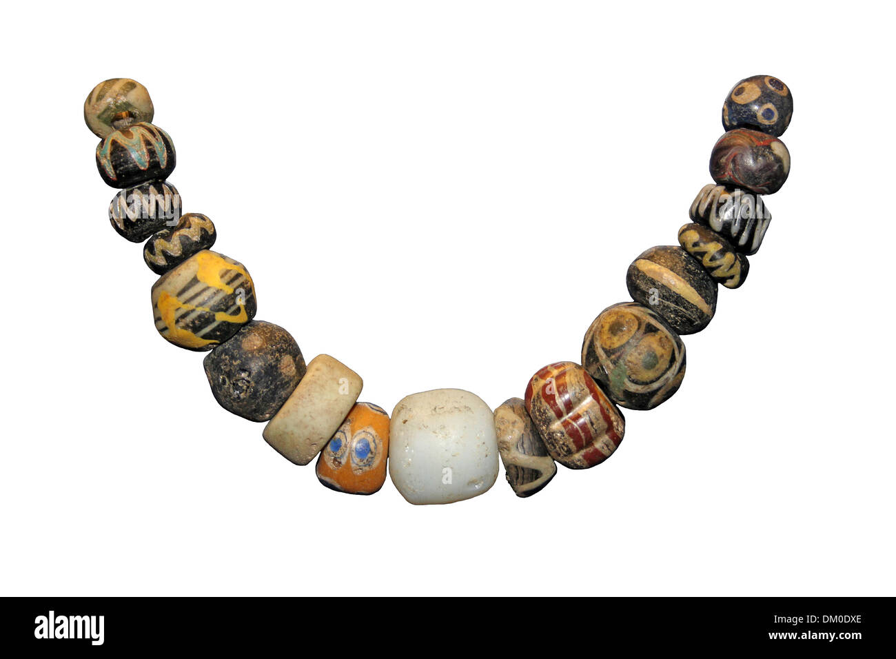 Ancient Glass Bead Necklace - Stock Image