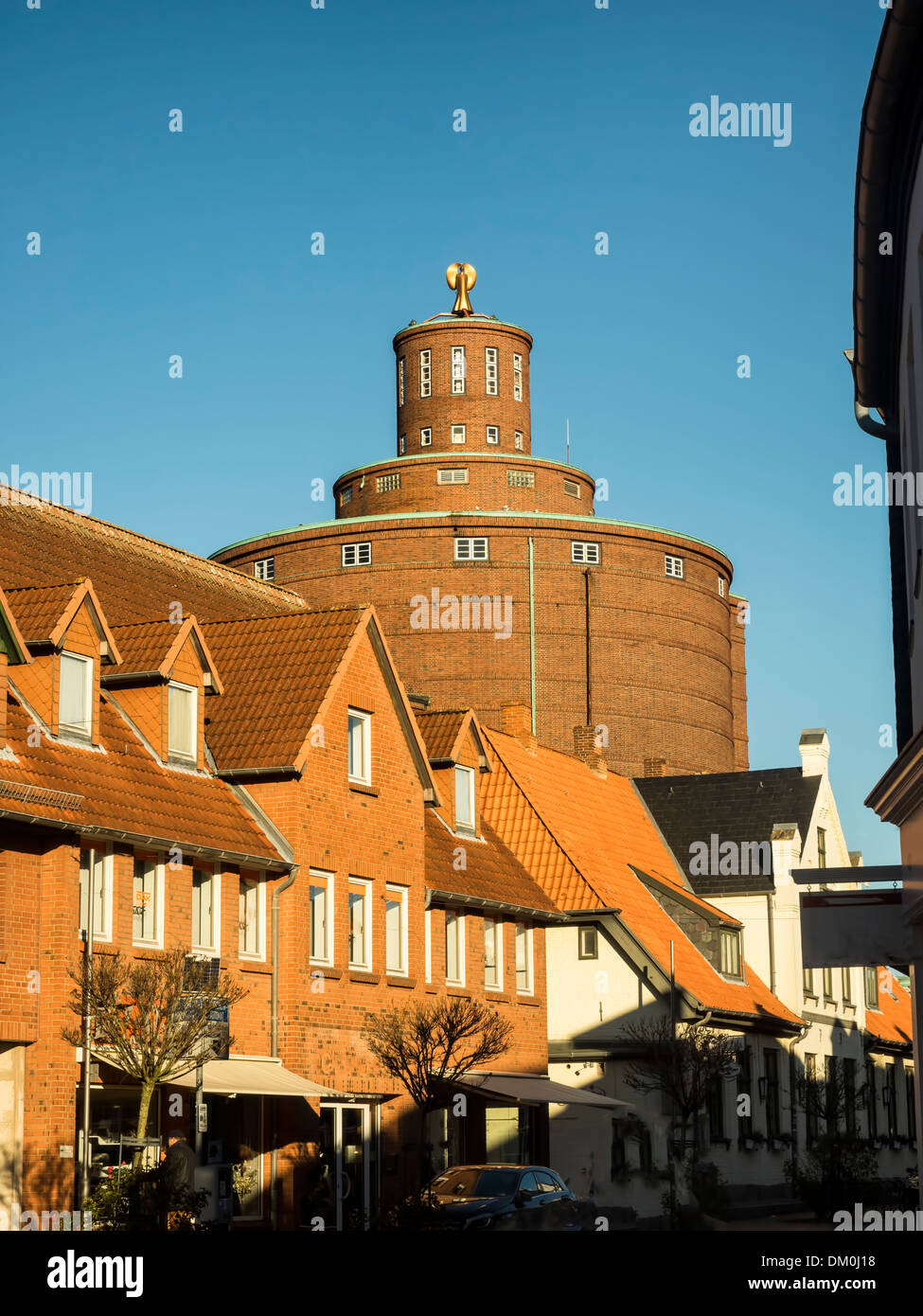 Eckernfoerde in north Germany, the old streets - Stock Image