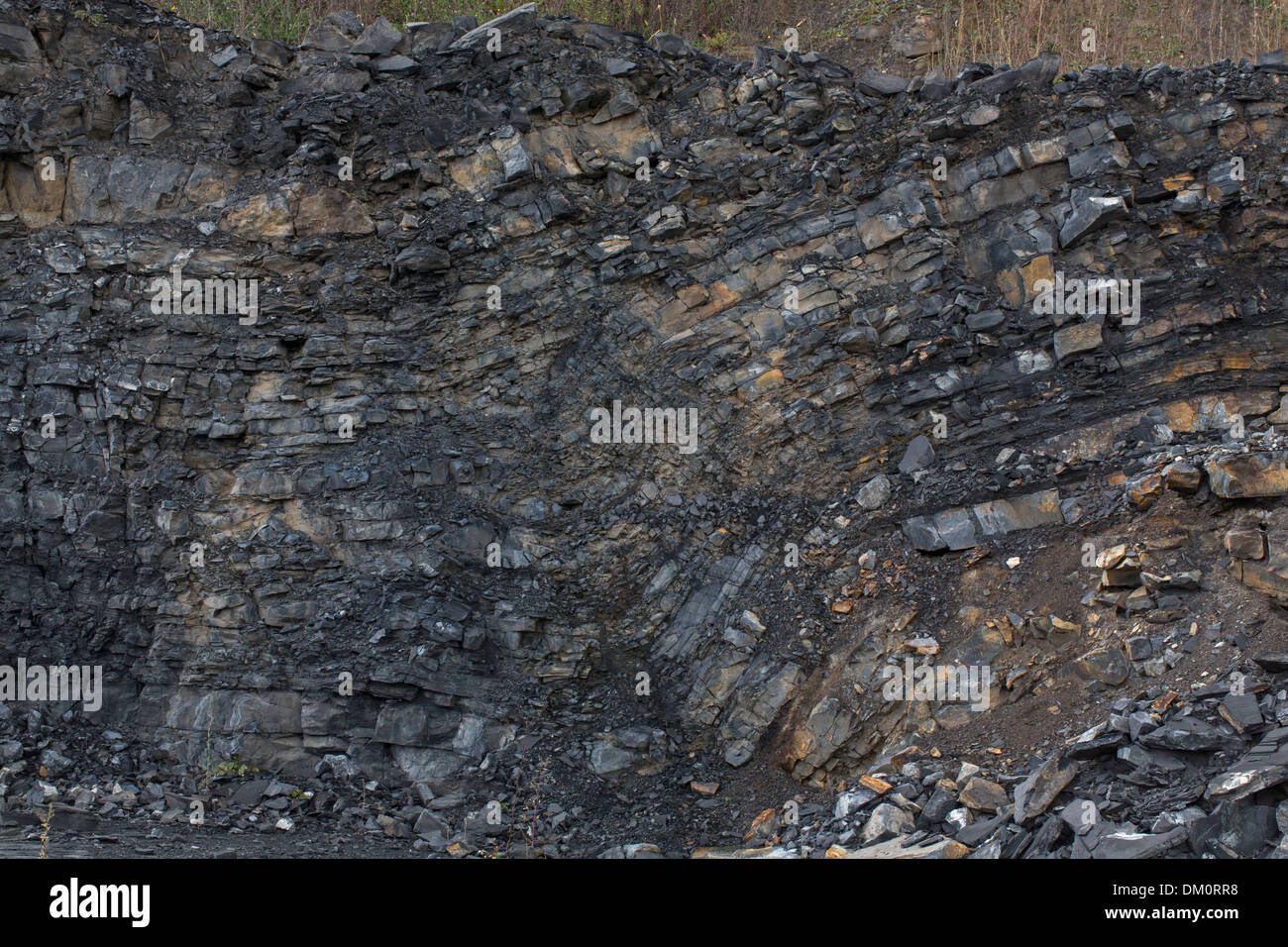 Marcellus shale, near Marcellus New York, source of natural
