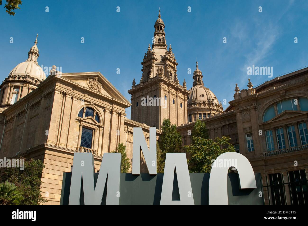 National Art Museum of Catalonia, MNAC, Barcelona, Catalonia, Spain - Stock Image