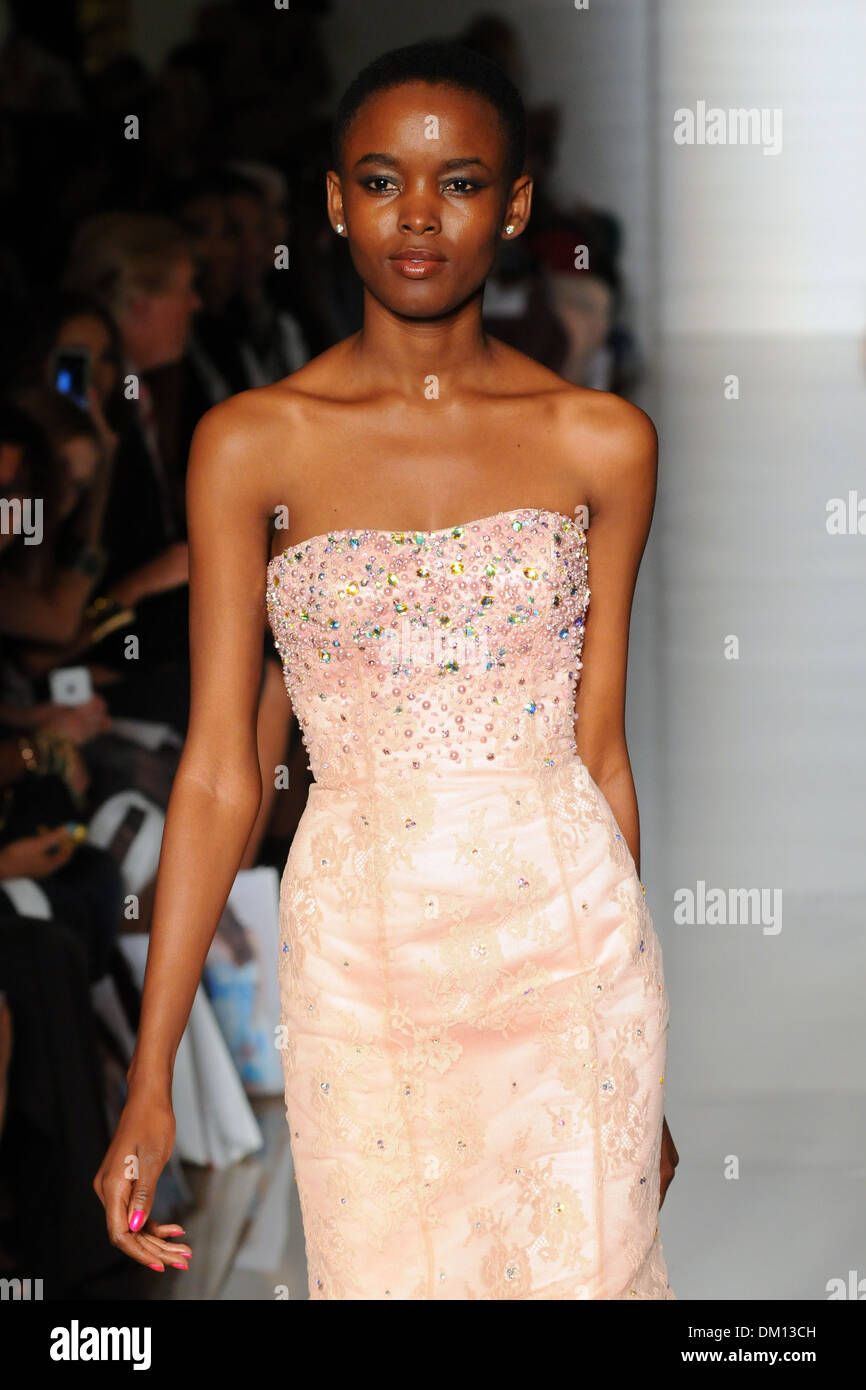 e7b8905b8e Flaviana Matata Mercedes-Benz New York Fashion Week Spring Summer 2013 – Sherri  Hill - Runway New York City USA - 07.09.12