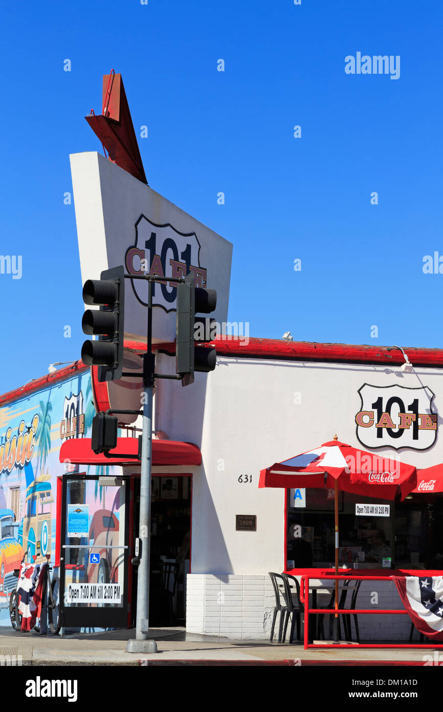 Highway 101 Cafe In Oceanside California Usa Stock Photo