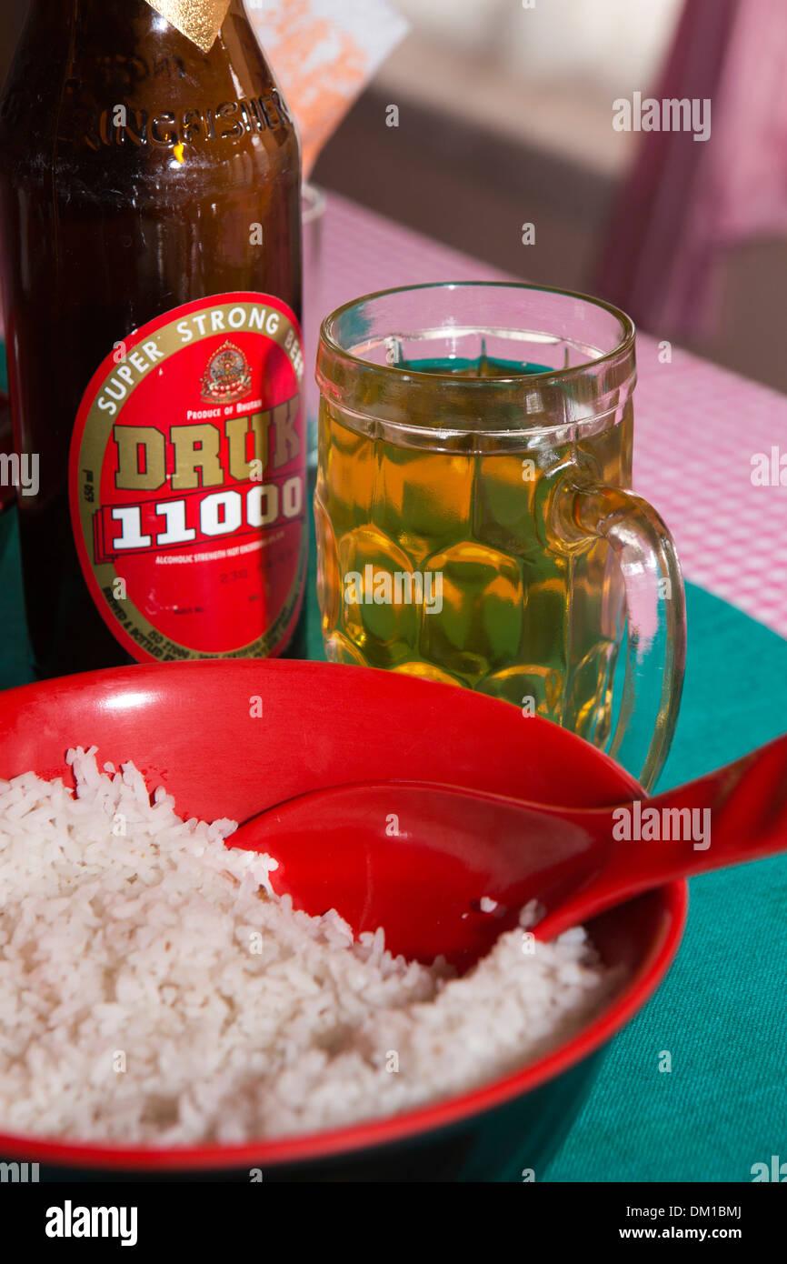 Bhutan Bhutanese Drink Glass Of Druk 11000 Strong Beer With
