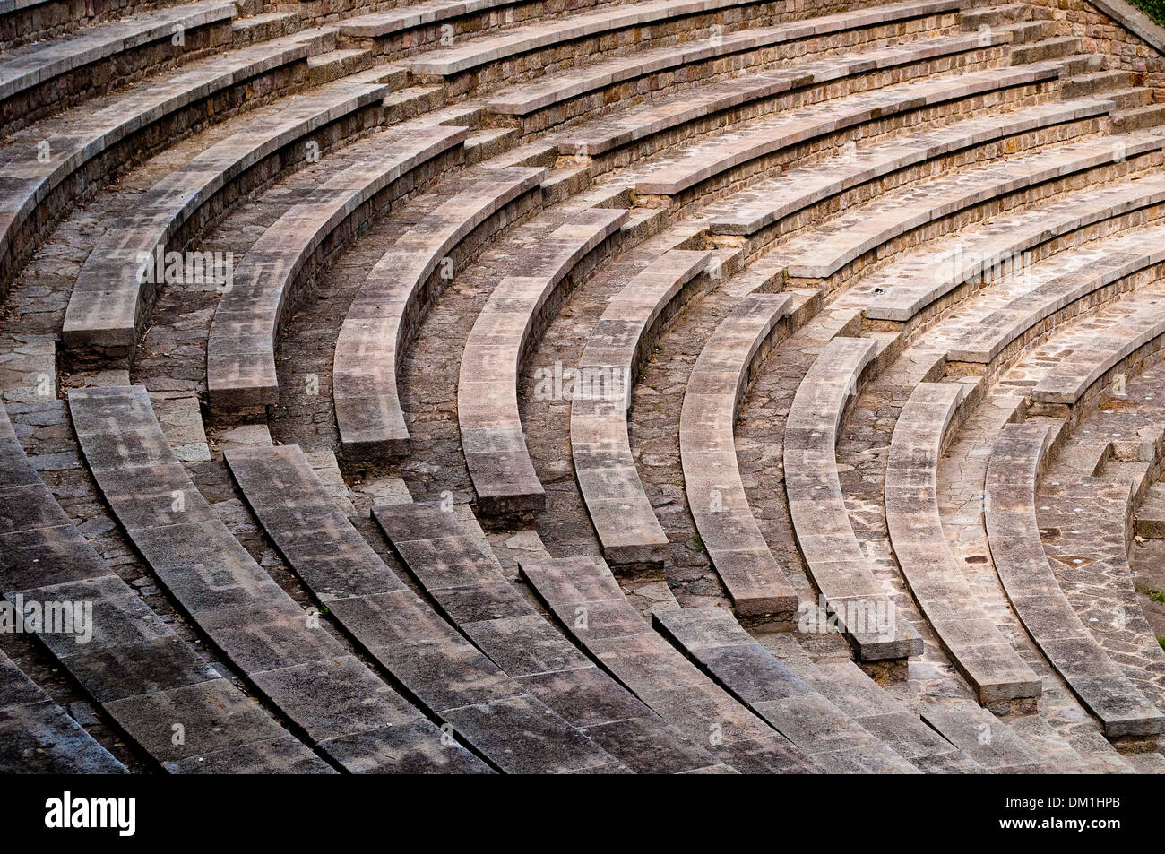Greek Theatre - Teatre Grec amphitheatre, Montjuic, Barcelona, Catalonia, Spain - Stock Image