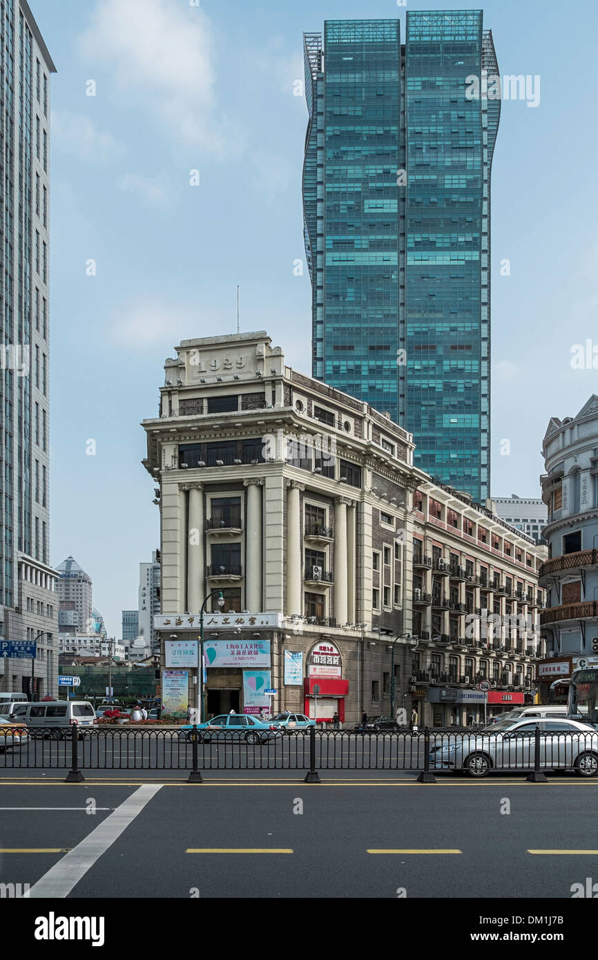 Traditional And Modern Architecture People Square Puxi Shanghai