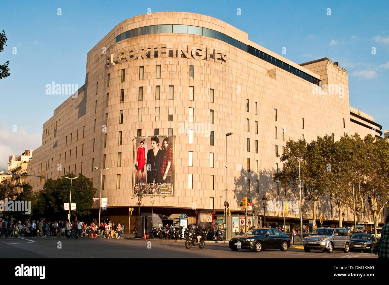 El corte ingles barcelona stock photos el corte ingles - El corte ingles plaza cataluna barcelona ...