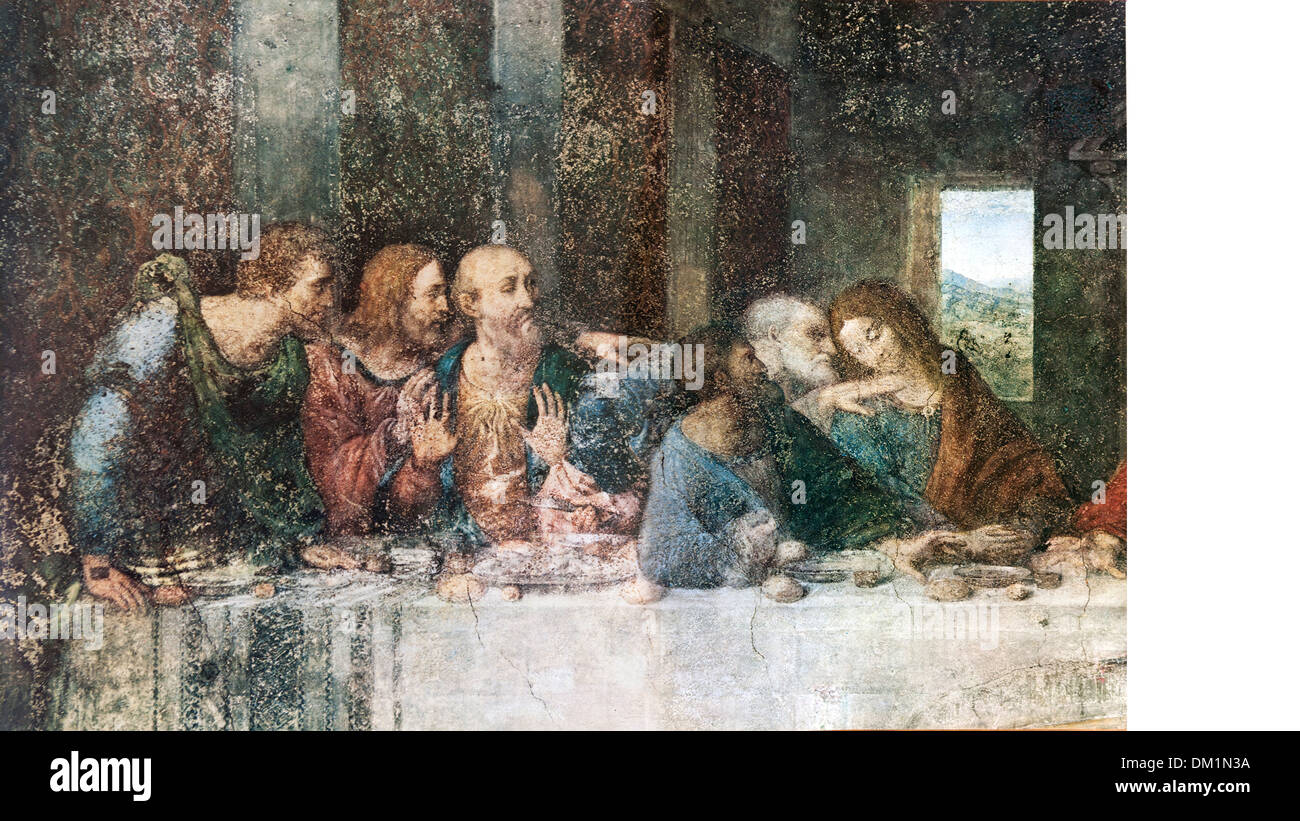 detail of the painting The Last Supper. - Stock Image