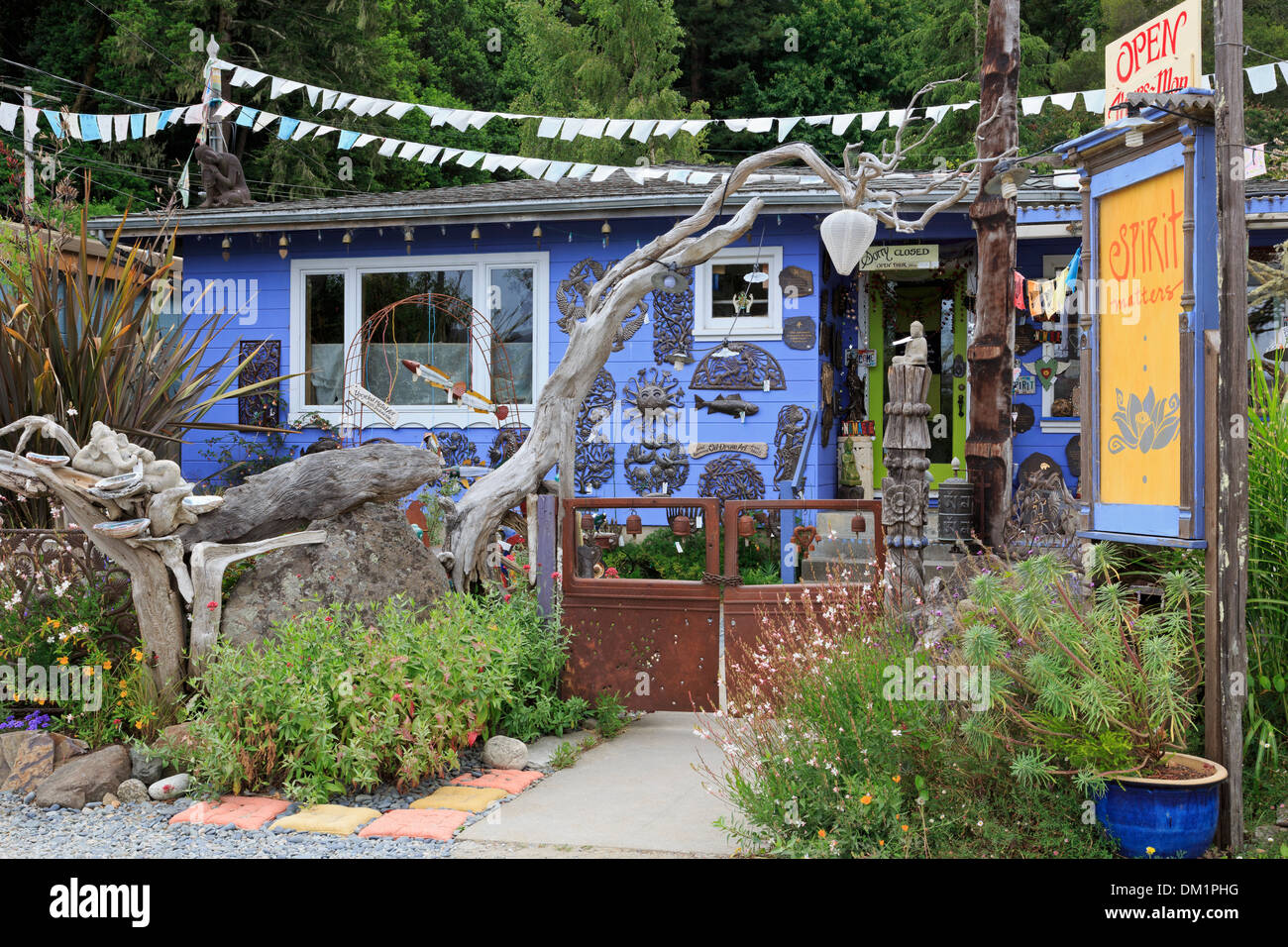 Spirit Matters Gallery,Inverness Park,Point Reyes Station,California,USA - Stock Image