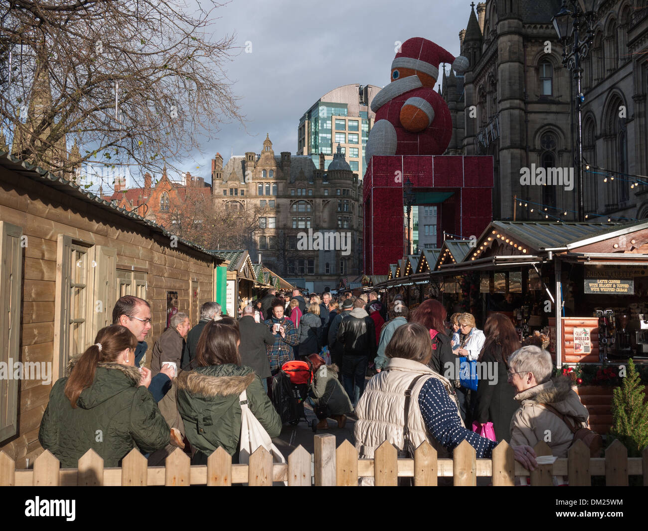 Manchester Christmas Markets at Albert Square, Manchester - Stock Image