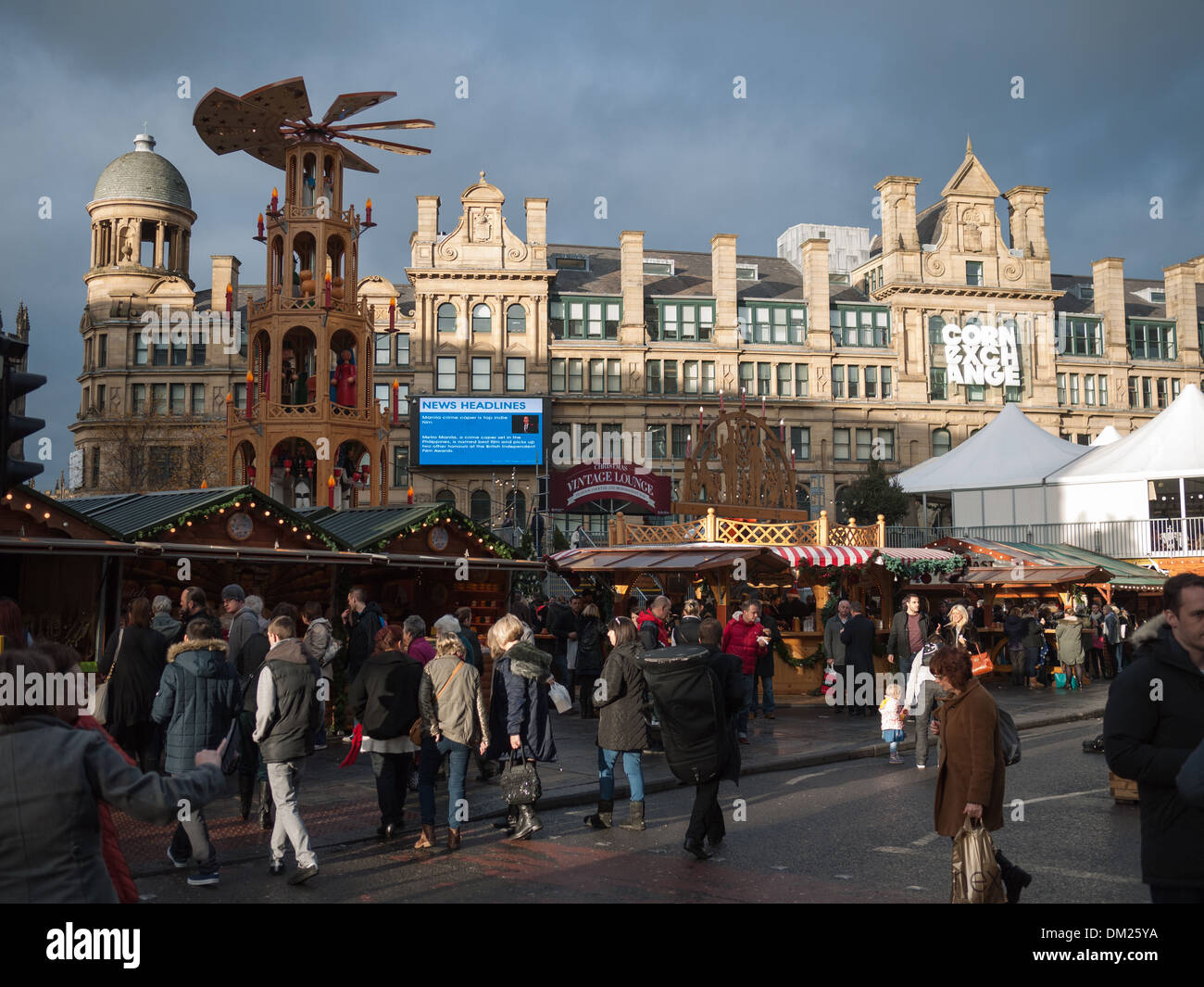 Manchester Christmas Markets at Corn Exchange, Manchester - Stock Image
