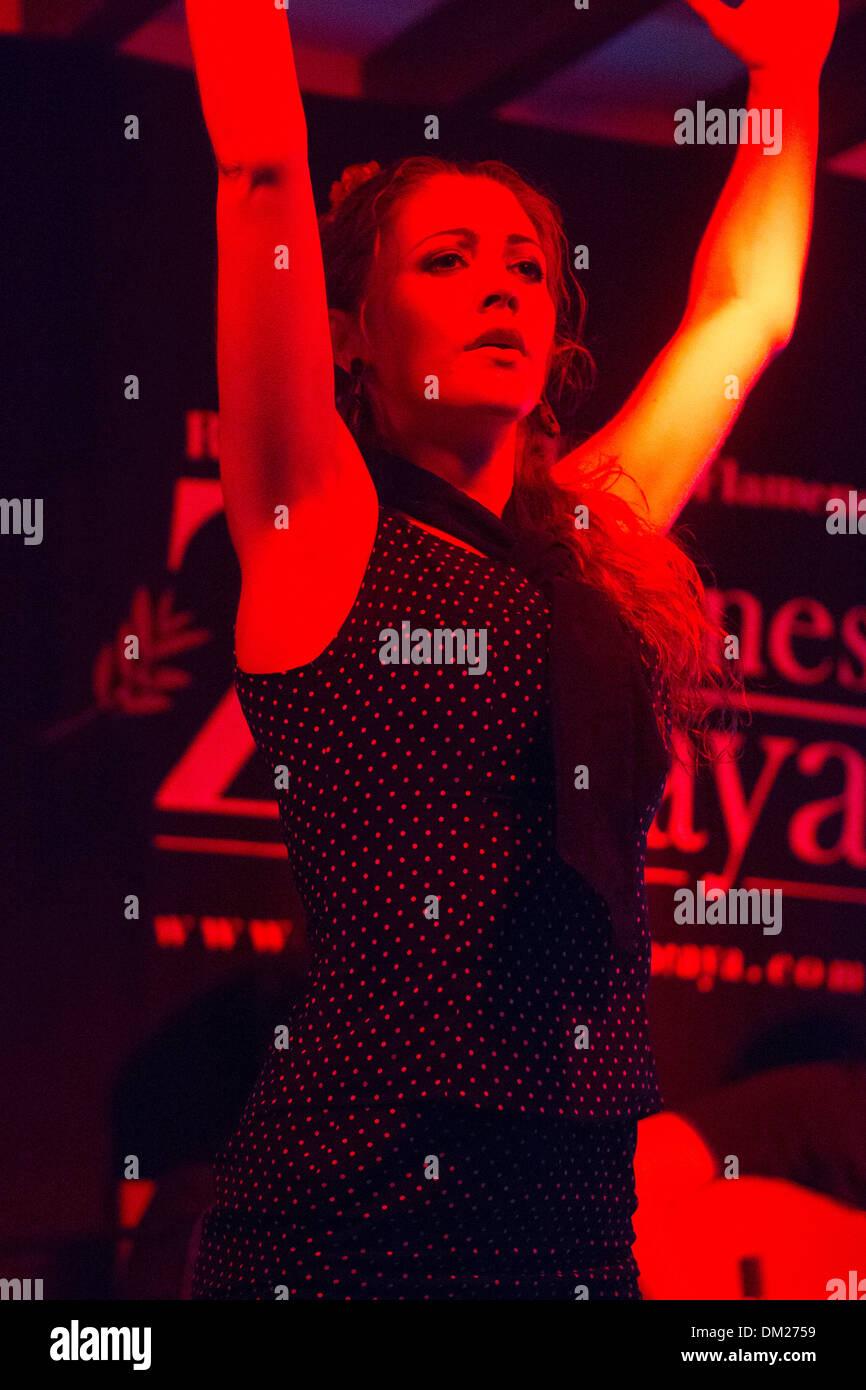 Flamenco dancer, Granada, Andalucia, Spain - Stock Image
