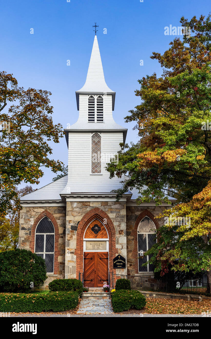 Episcopal church, Kent, Connecticut, USA - Stock Image