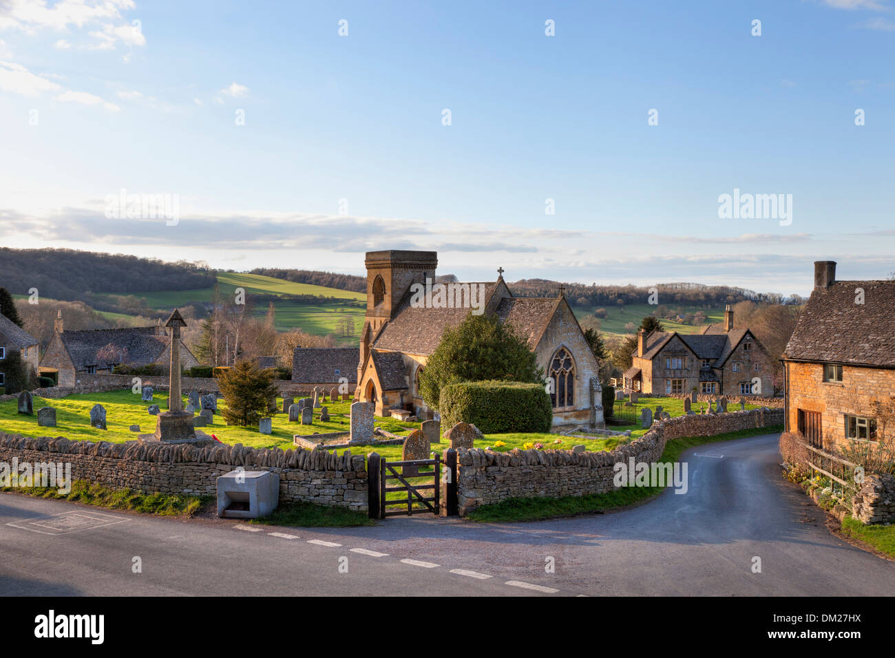 The pretty Cotswold church at Snowshill, Gloucestershire, England. - Stock Image