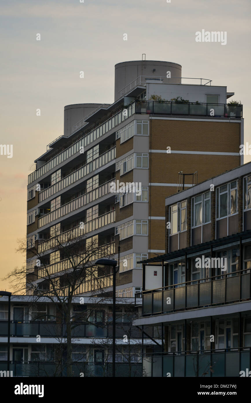 Social housing in Pimlico, South West London - Stock Image