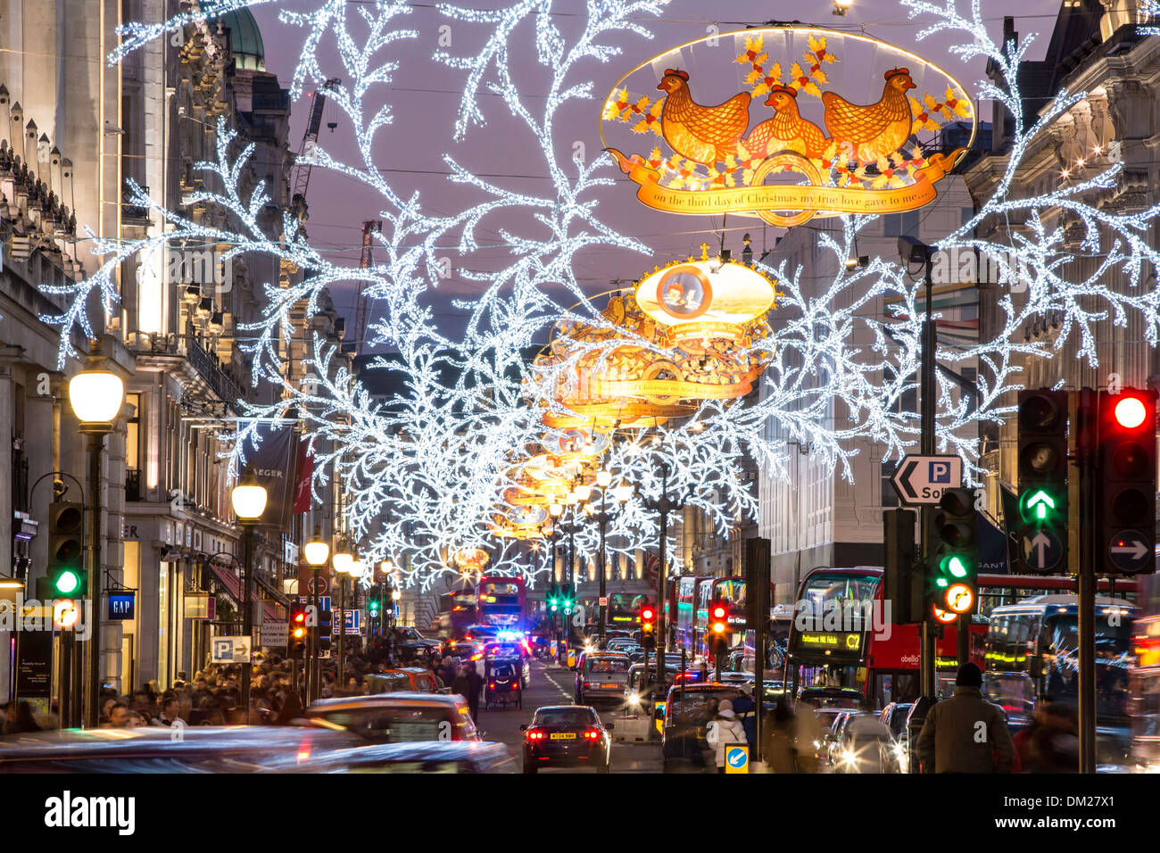London At Christmas Time.Regent Street Christmas Time London Stock Photos Regent