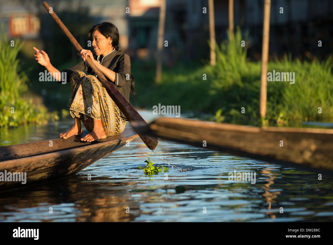 life on the water, Inle Lake, Myanmar (Burma) - Stock Image