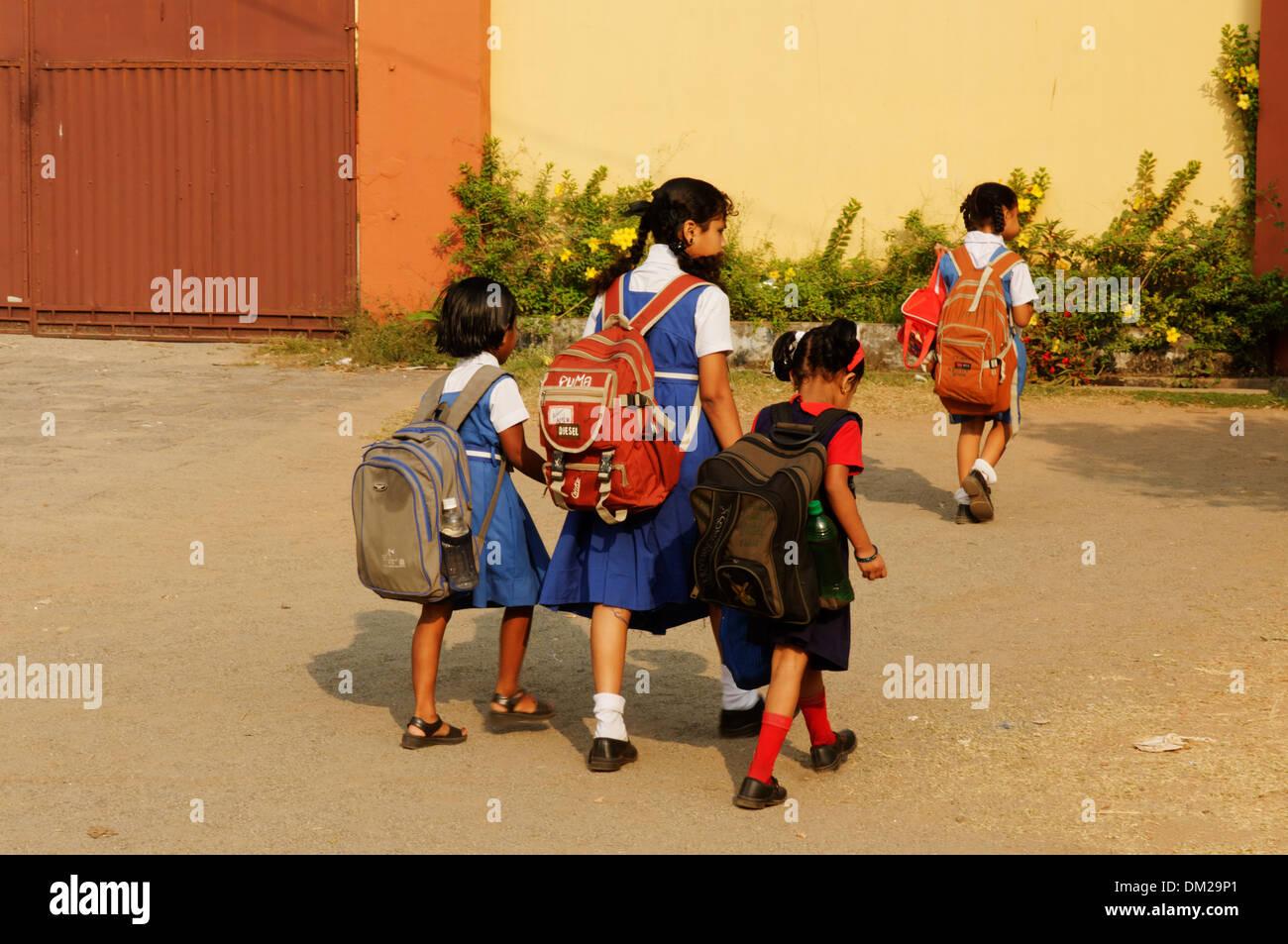Indian schoolchildren - Stock Image