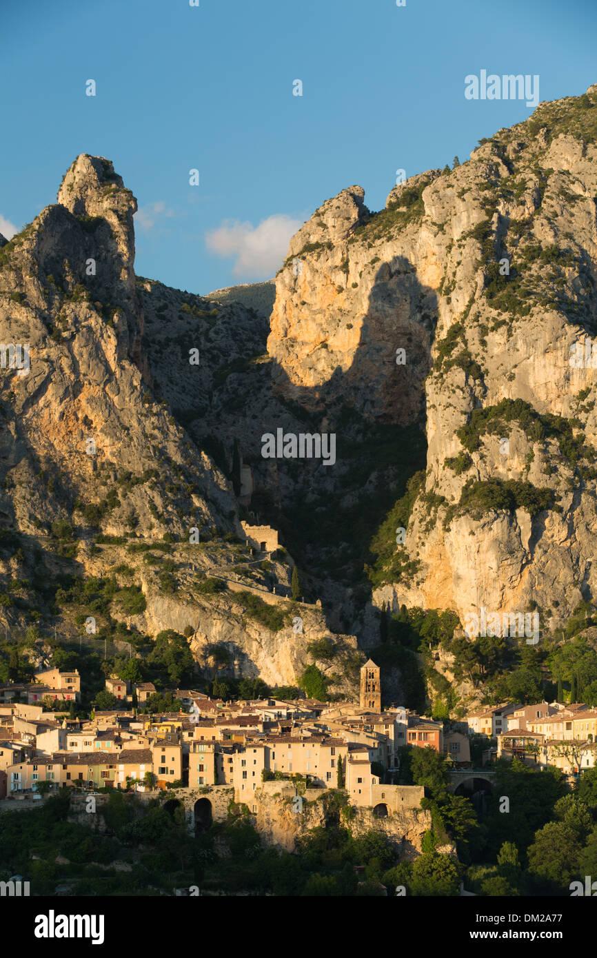 Moustiers-Sainte-Marie, Alpes-de-Haute-Provence, France Stock Photo