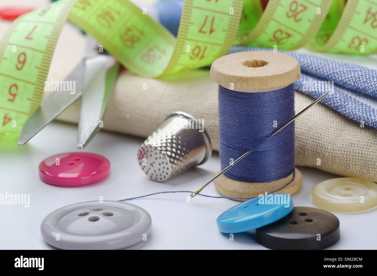 Sewing items - Stock Image