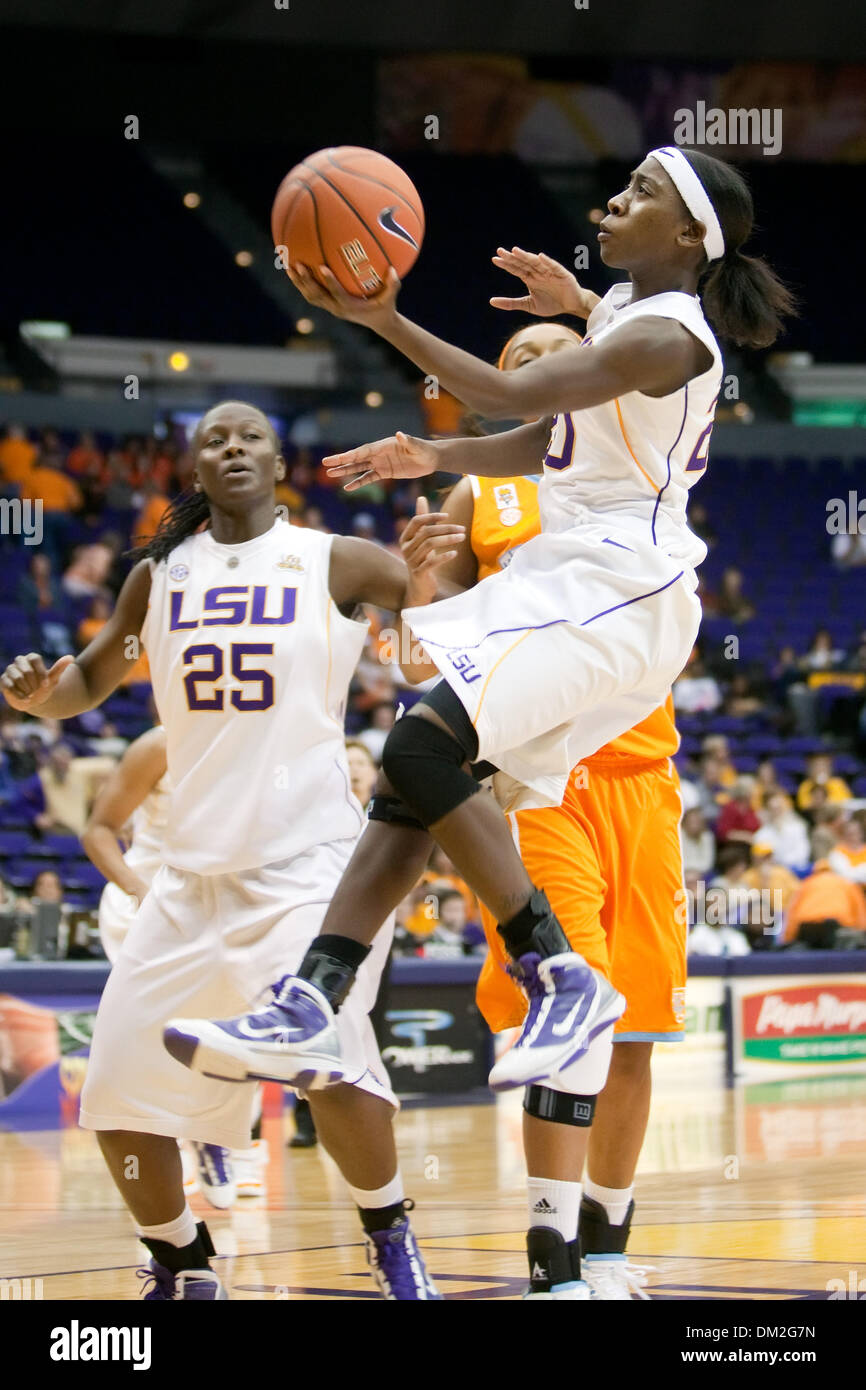 Tennessee at LSU; LSU forward Destini Hughes shoots a jumpshot during the second half; Tennessee won the game 55-53; Pete Maravich Assembly Center, Baton Rouge, Louisiana (Credit Image: © John Korduner/Southcreek Global/ZUMApress.com) - Stock Image
