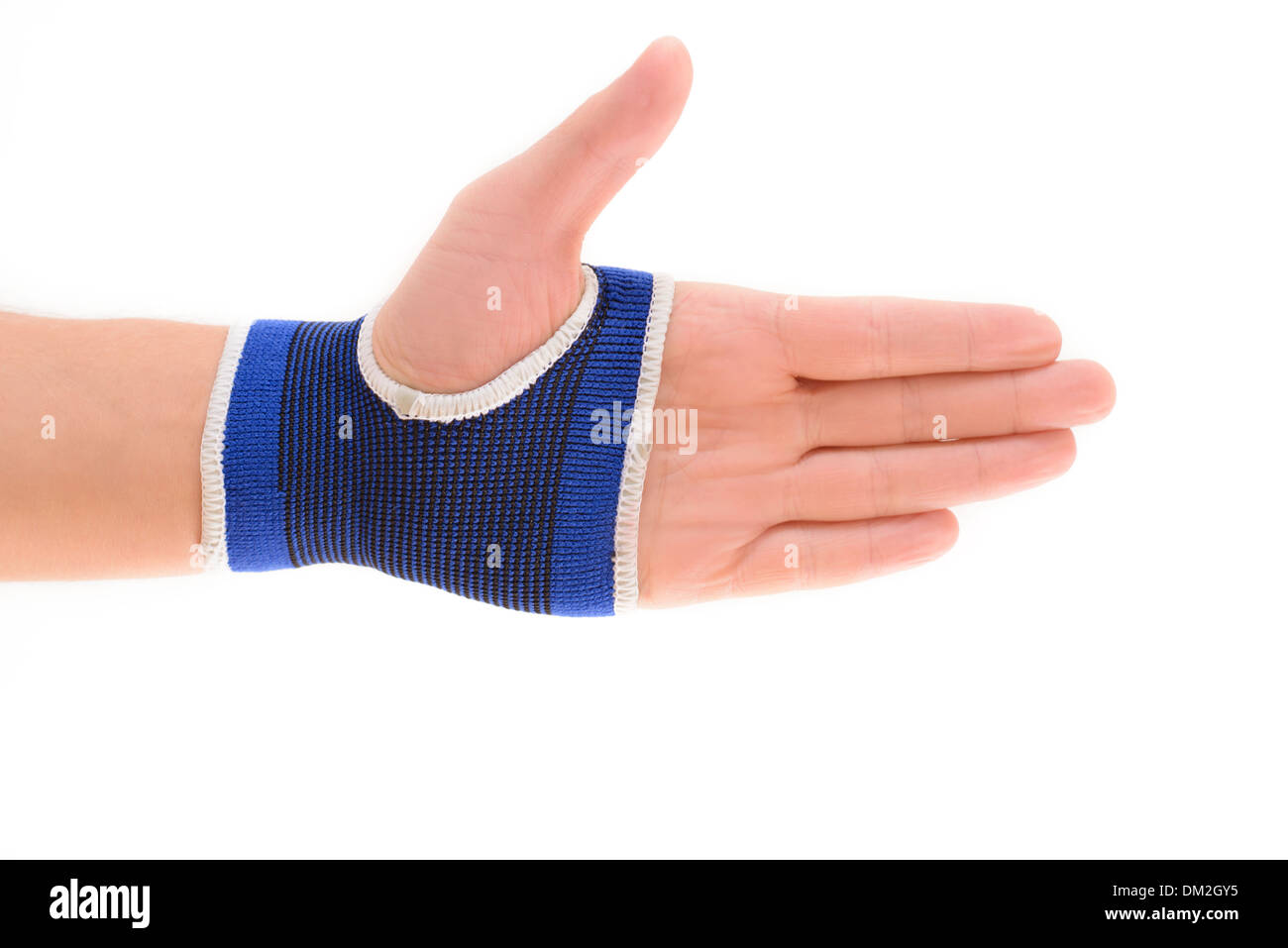 Wrist support isolated on white background - Stock Image