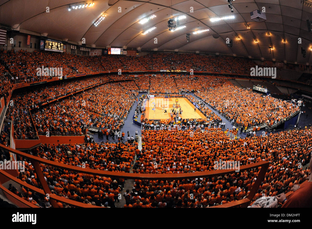 The Carrier Dome Crowd Watches Syracuse Battle Villanova As