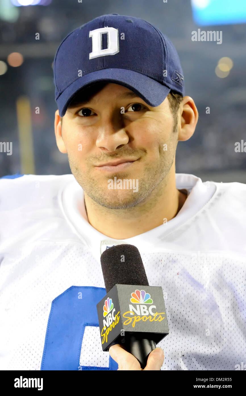 Dallas Cowboys Quarterback Tony Romo 9 In Post Game Interviews In Stock Photo Alamy