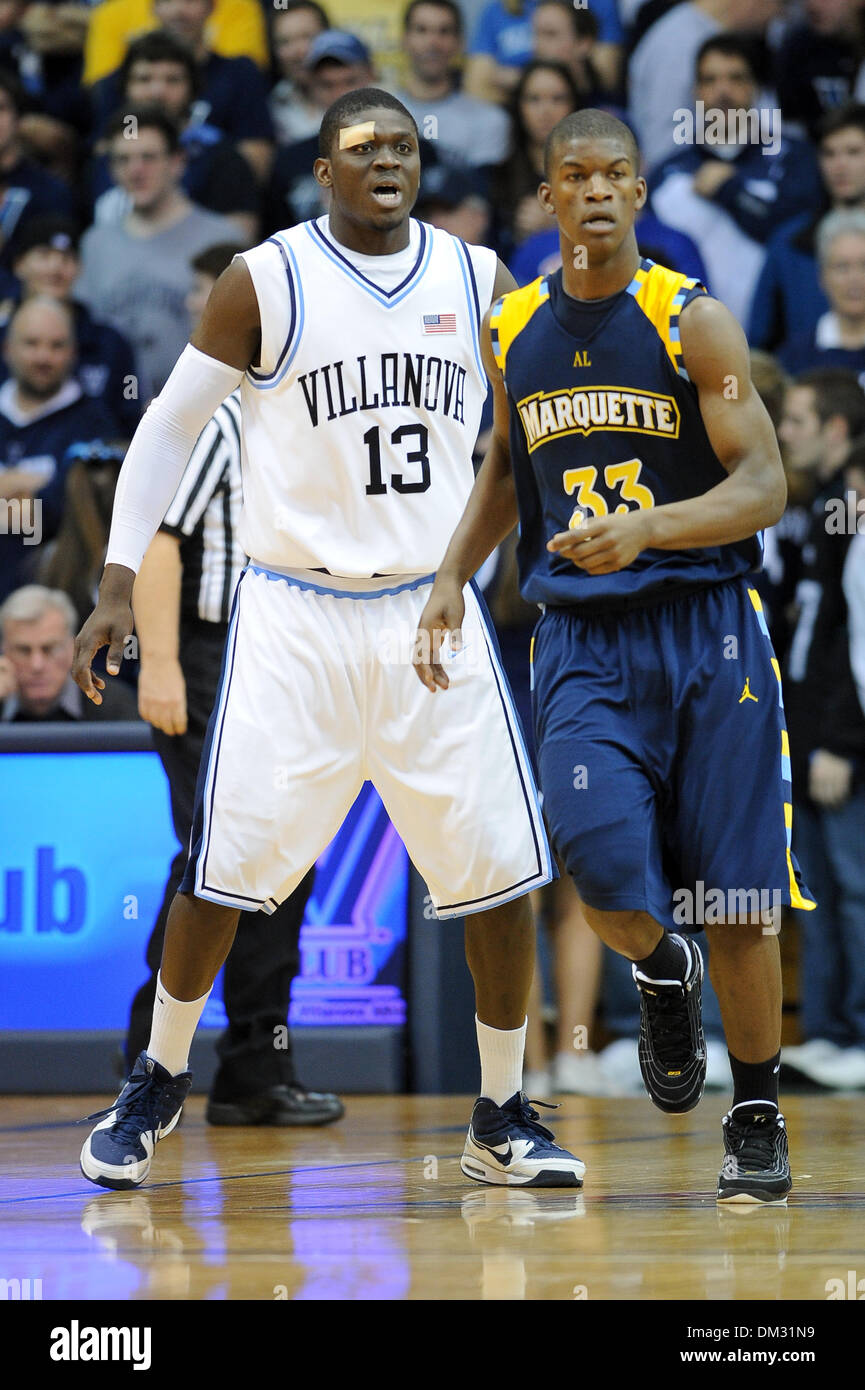 Villanova forward/center Mouphtaou Yarou #13 and Marquette
