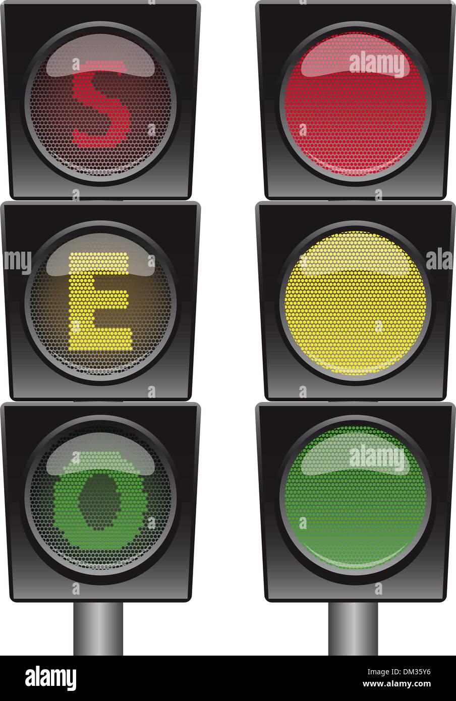 SEO stoplight illustration - Stock Image