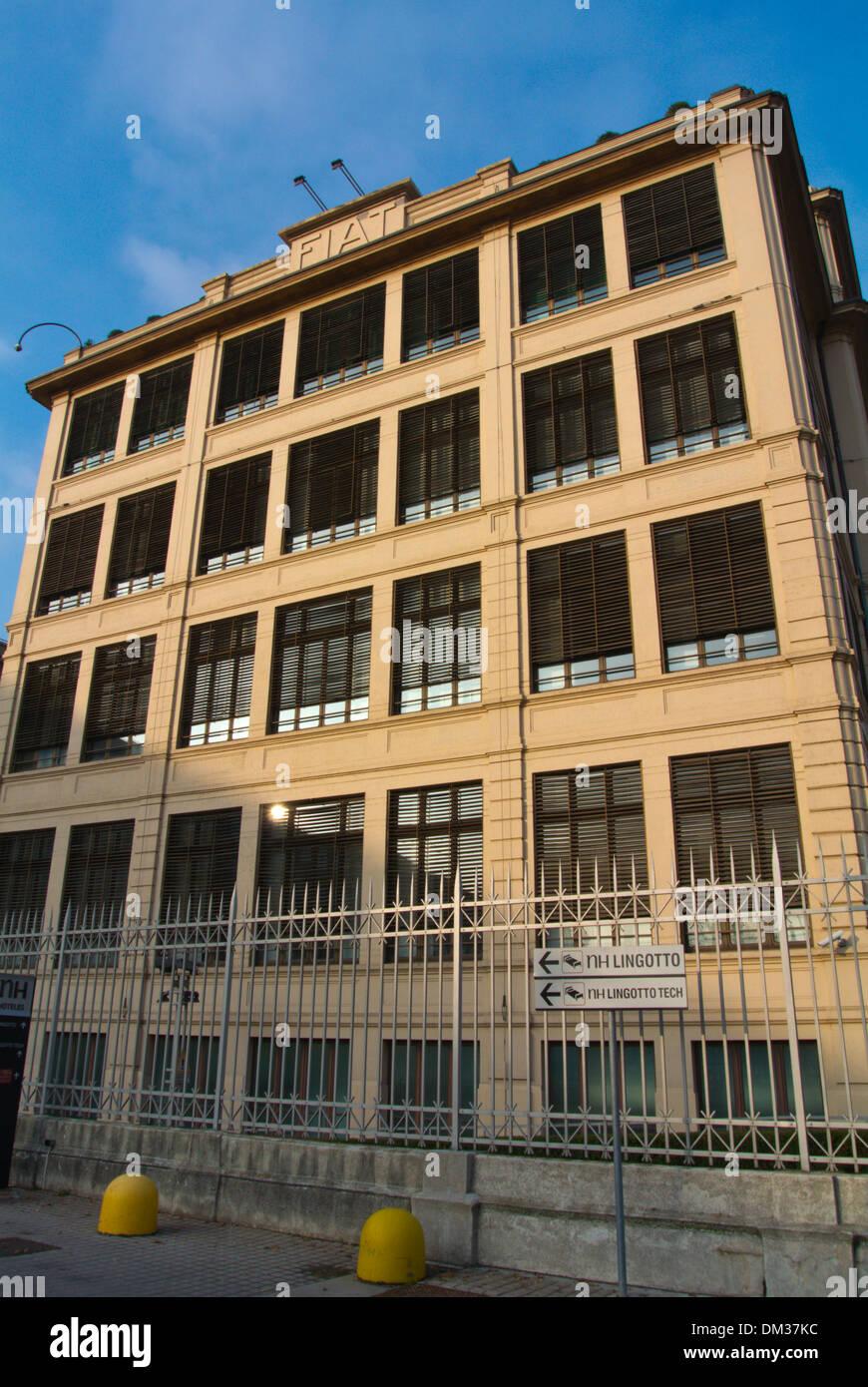 Fiat headquarter buildings Lingotto district Turin Piedmont region Italy Europe - Stock Image