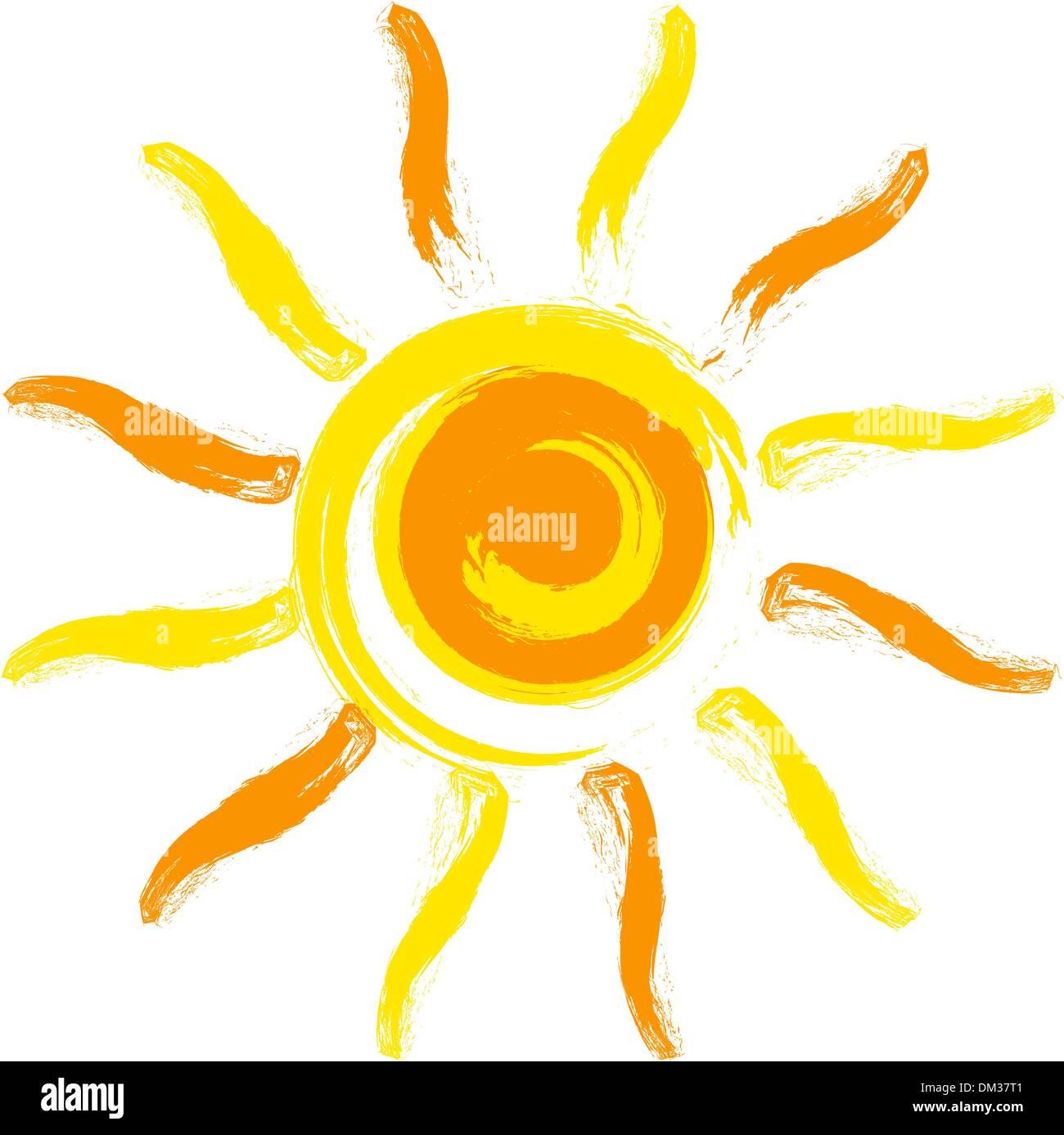 Vector sun - Stock Image