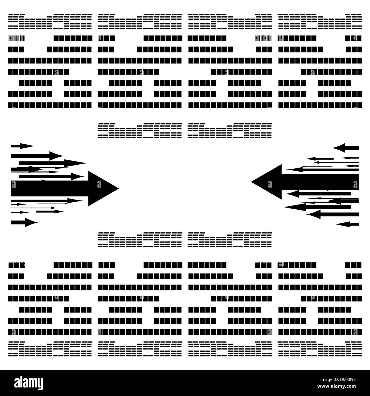 Abstract monochrome vector illustration Stock Vector