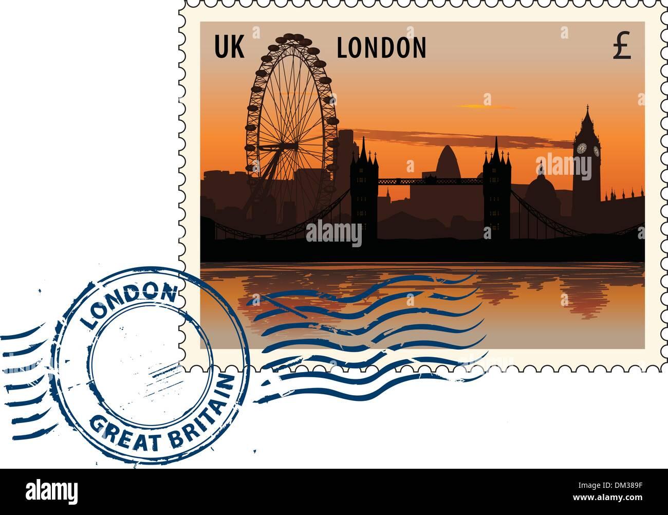 Postmark from London - Stock Image