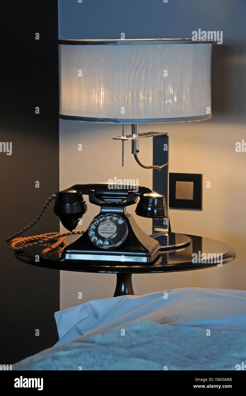 Vintage Bakerlite telephone, Hotel Odette en Ville, Brussels, Belgium. - Stock Image