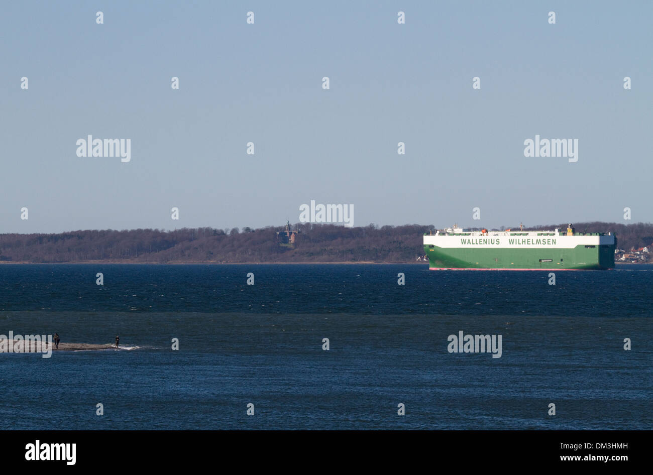 The Car Carrier M/V Bess off Elsinore. - Stock Image