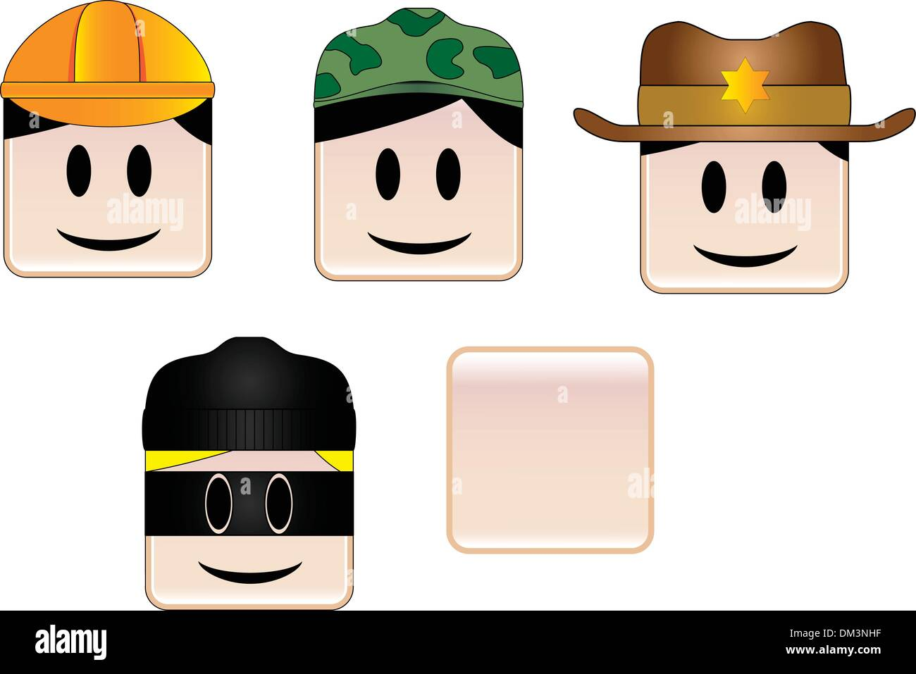 Occupations Icons Stock Vector