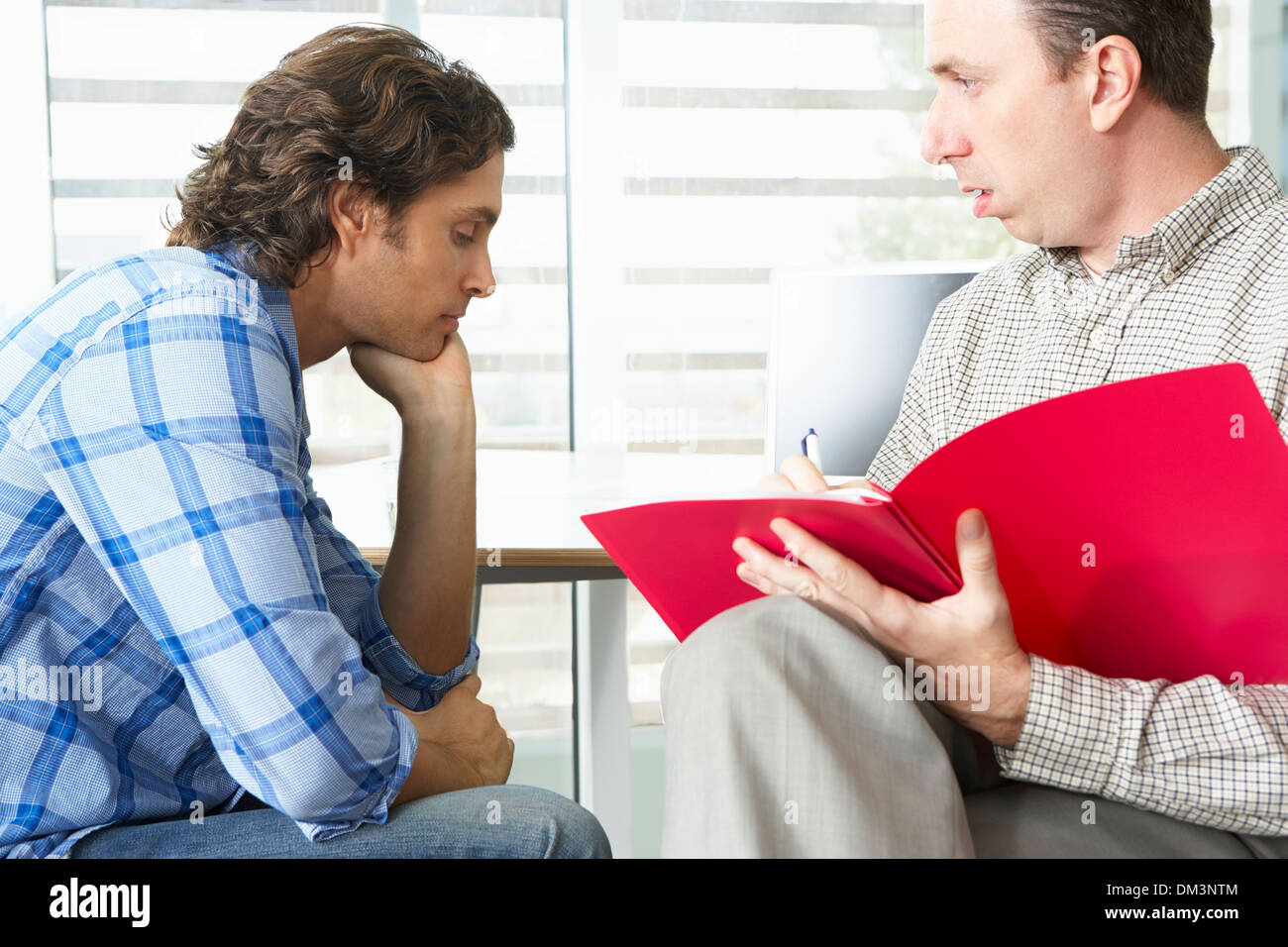 Man Having Counselling Session - Stock Image