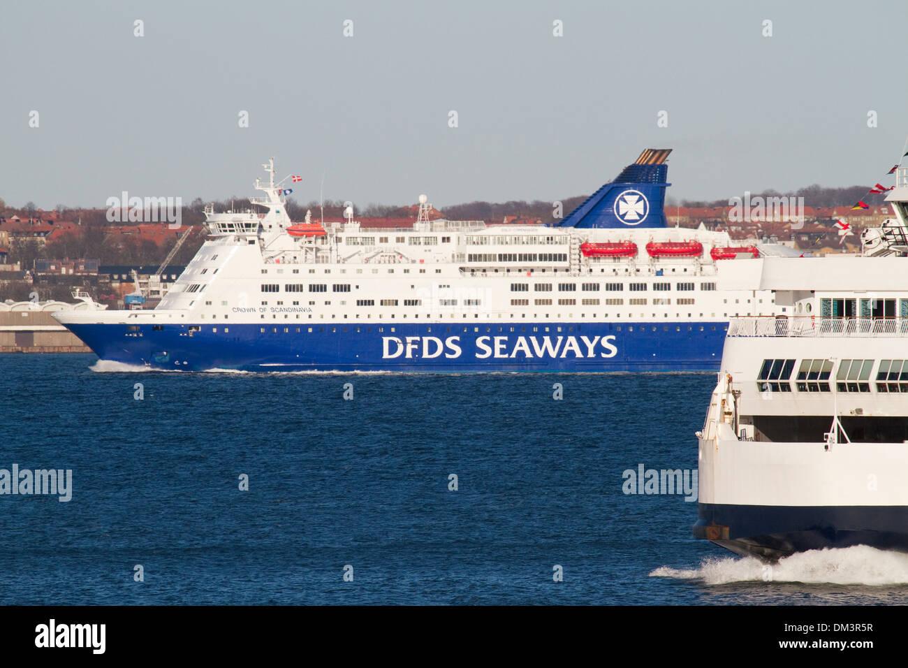 Ferry traffic at Øresund. - Stock Image