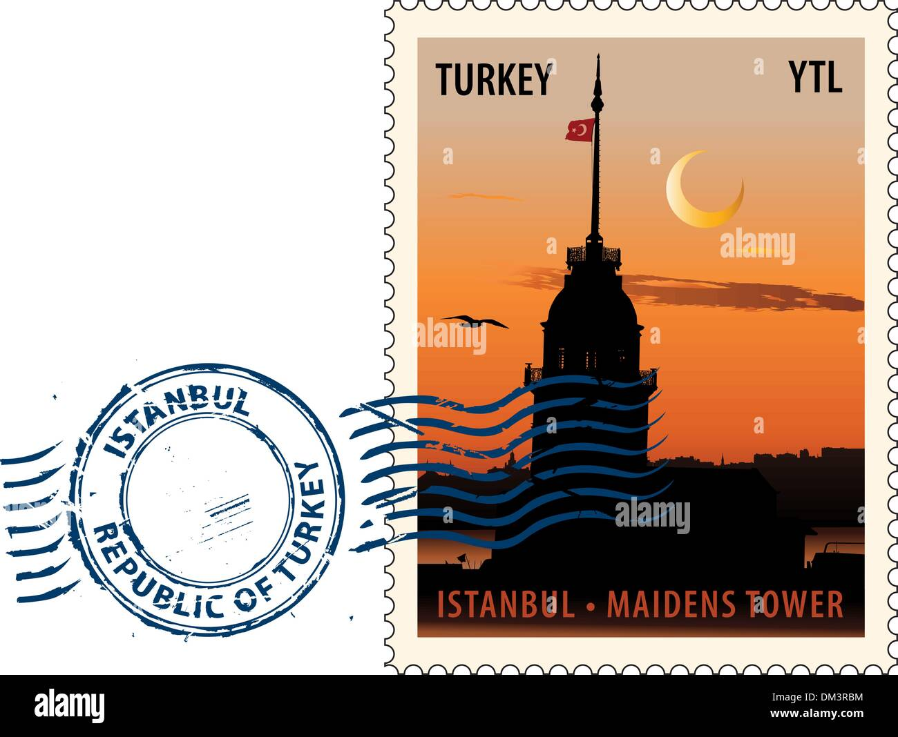Postmark from Istanbul - Stock Image