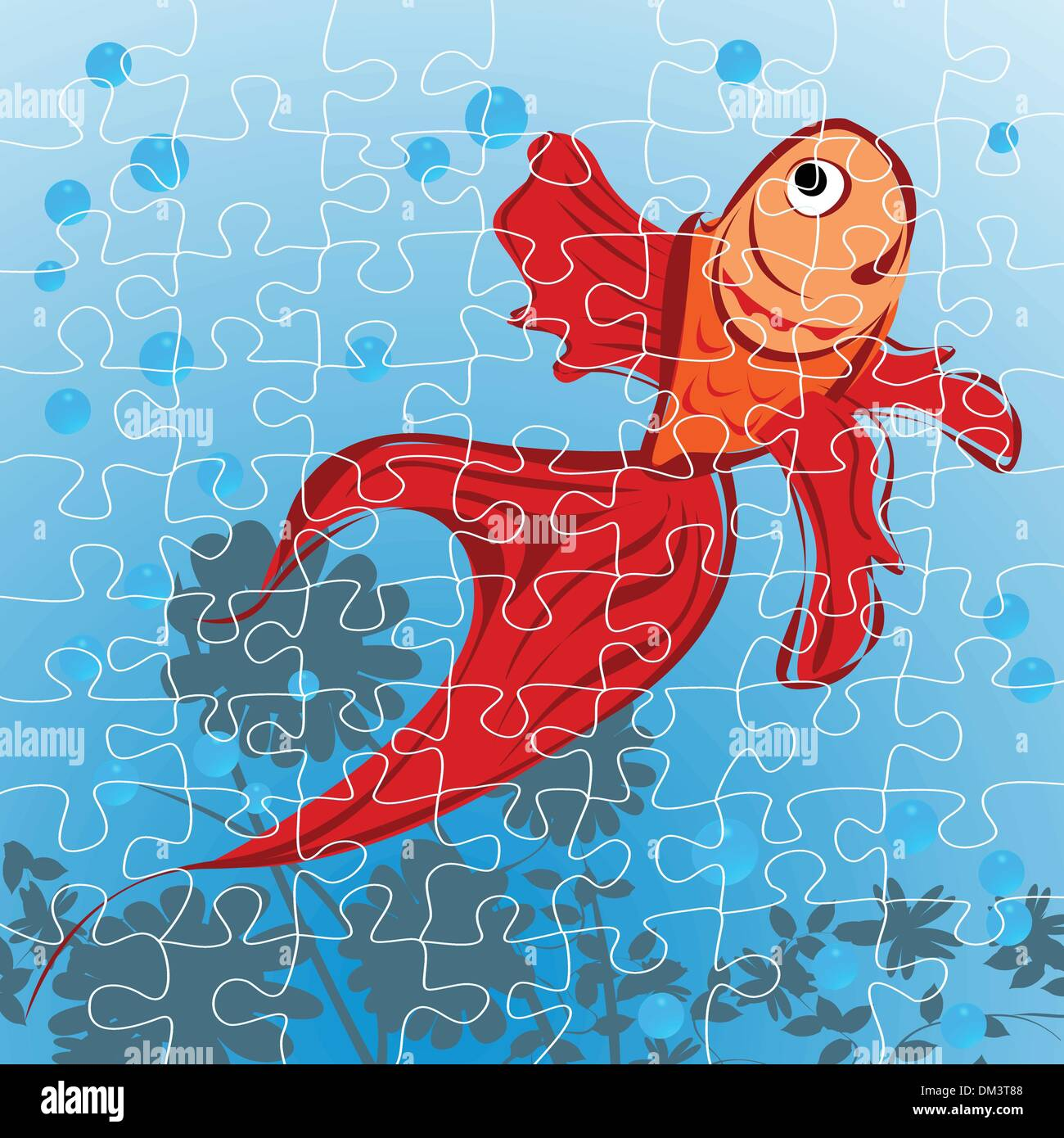 Red fish puzzle Stock Vector Art & Illustration, Vector Image ...
