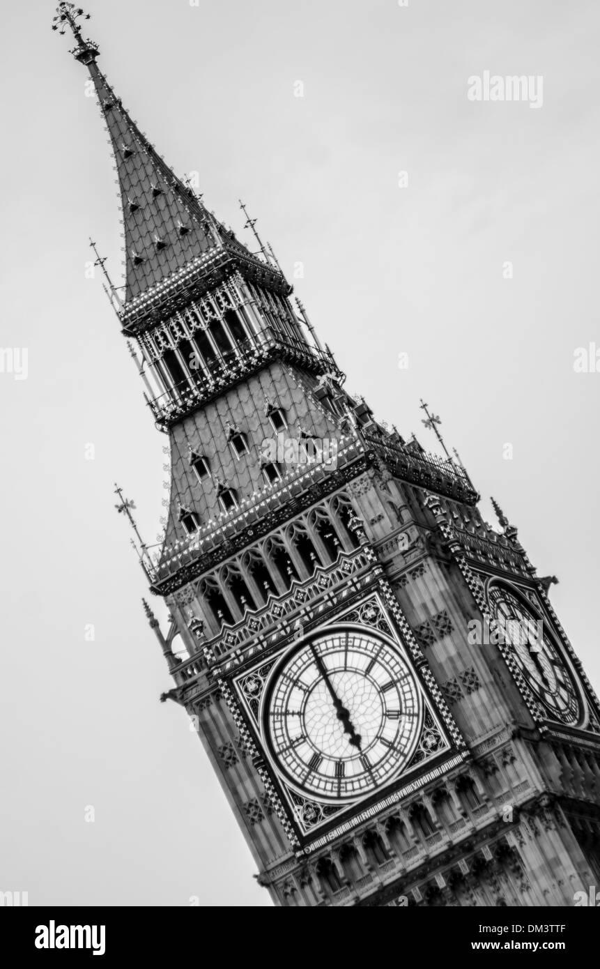 Big Ben Clock, London, Elizabeth Tower - Stock Image