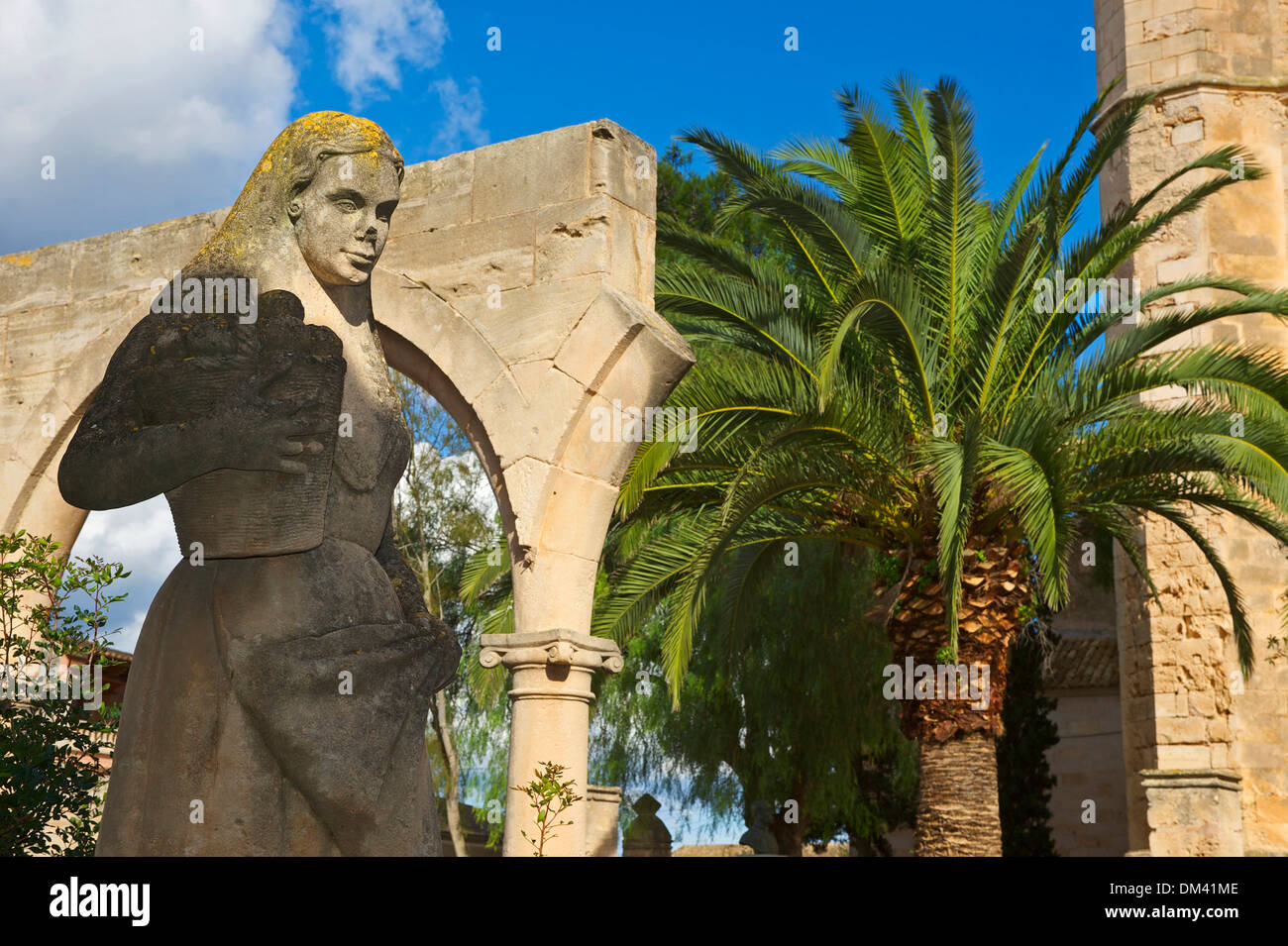 Balearic Islands Majorca Spain Europe statue sculpture figure culture cultural art skill piece of art sculpture Petra outside - Stock Image