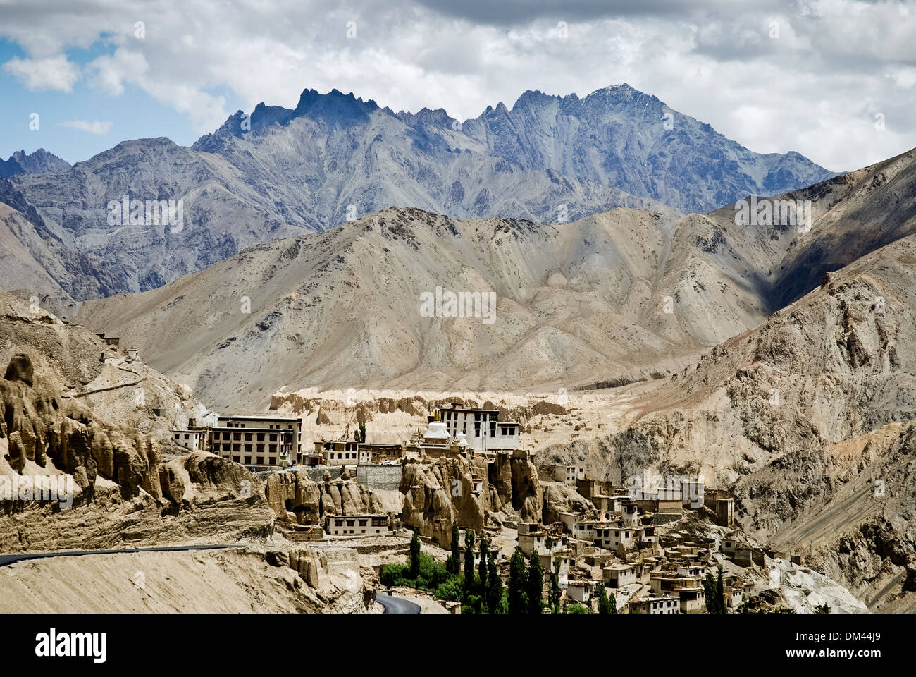 Ladakh, India - 15 July 2009: a village in a mountain landscape - Stock Image