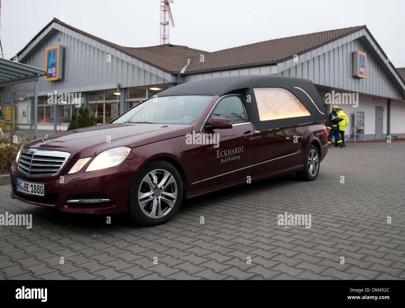 Bad Homburg, Germany  11th Dec, 2013  A funeral car is