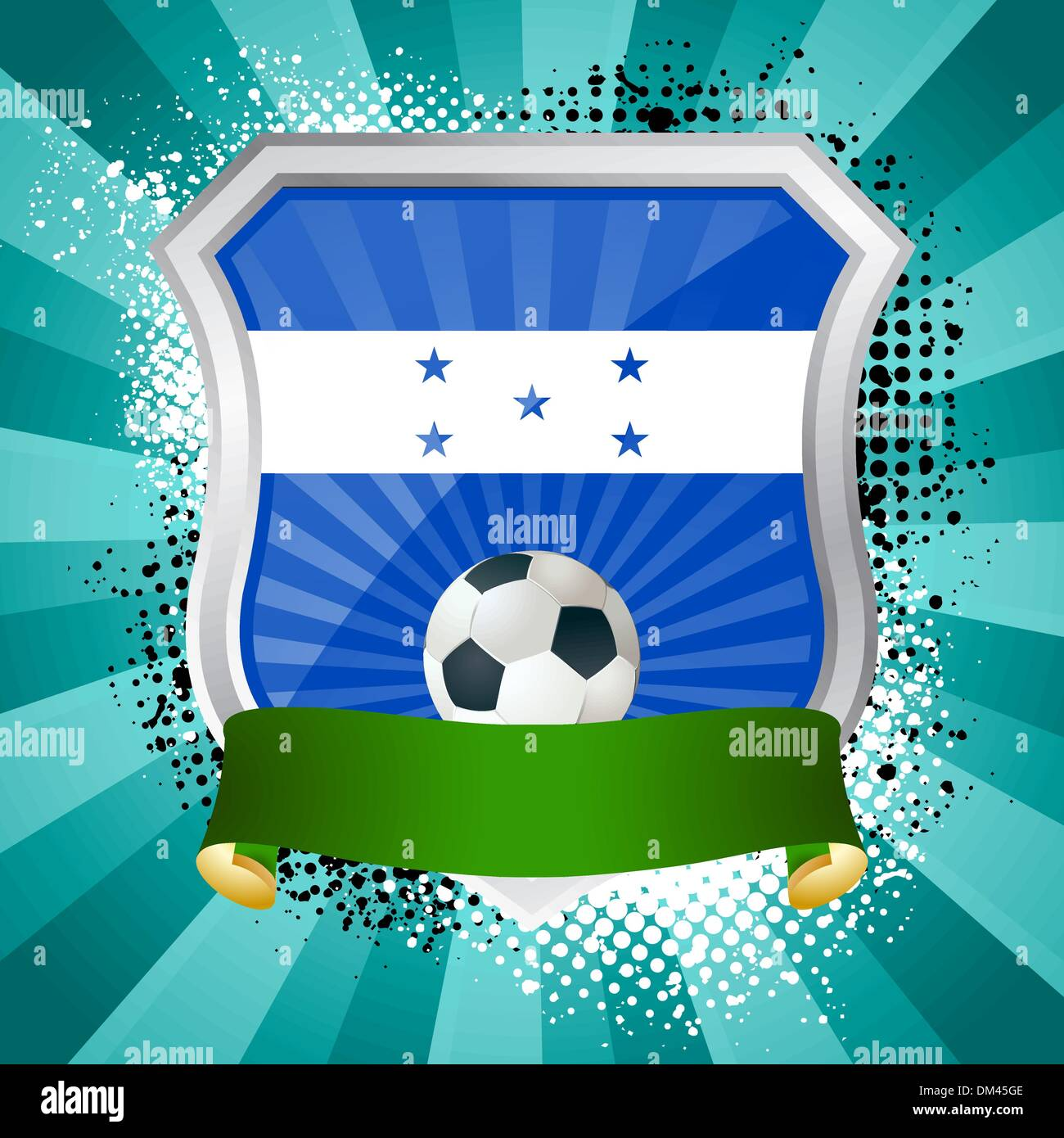 Shield with flag of  Honduras Stock Vector