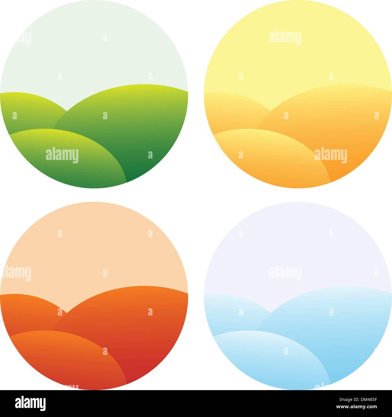 four seasons icons - Stock Image